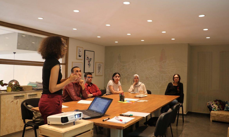 woman teaching staff